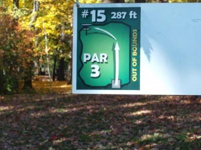 Mohawk DGC, Main course, Hole 15 Hole sign