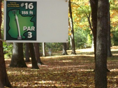 Mohawk DGC, Main course, Hole 16 Hole sign