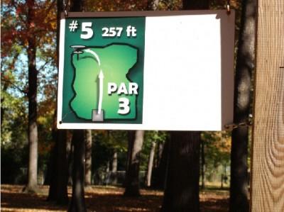 Mohawk DGC, Main course, Hole 5 Hole sign