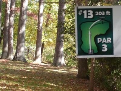 Mohawk DGC, Main course, Hole 13 Hole sign