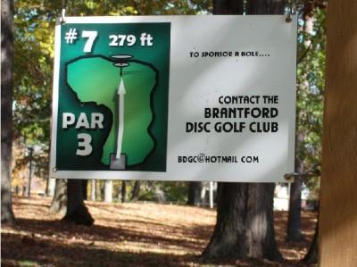 Mohawk DGC, Main course, Hole 7 Hole sign