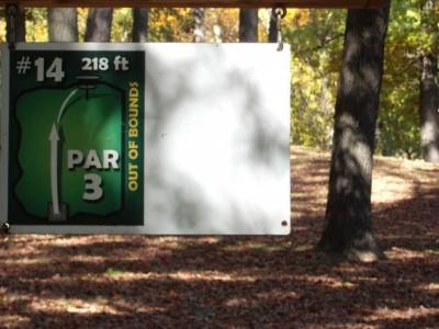 Mohawk DGC, Main course, Hole 14 Hole sign