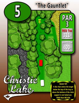 Christie Lake Conservation Area, Main course, Hole 5 Hole sign