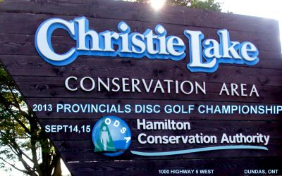Christie Lake Conservation Area, Main course, Hole 1 Hole sign