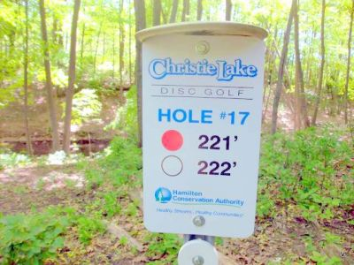 Christie Lake Conservation Area, Main course, Hole 17 Short tee pad
