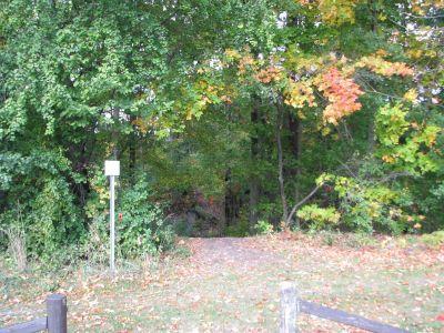 Christie Lake Conservation Area, Main course, Hole 10 Hole sign