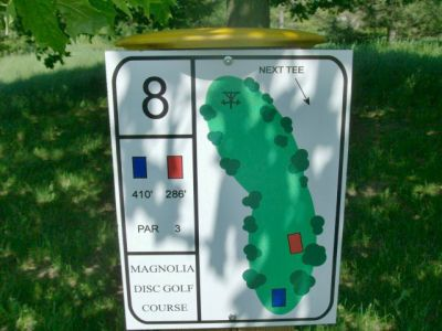 University of Guelph Magnolia, Main course, Hole 8 Short tee pad