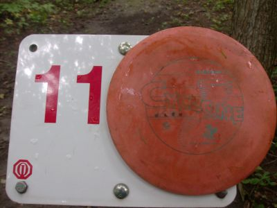 Lake Whittaker Conservation Park, Main course, Hole 11 Hole sign