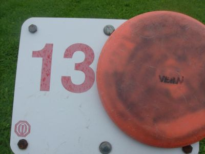 Lake Whittaker Conservation Park, Main course, Hole 13 Hole sign