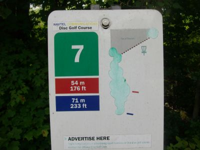 Kanata DGC, Main course, Hole 7 Hole sign