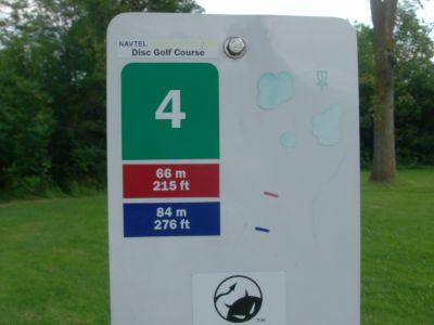 Kanata DGC, Main course, Hole 4 Hole sign