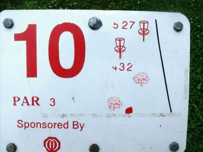 River's Edge at St. Julien's Park, Main course, Hole 10 Hole sign