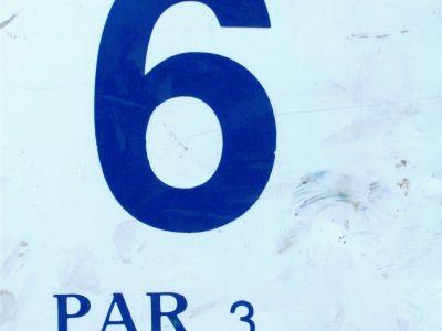 River's Edge at St. Julien's Park, Main course, Hole 6 Hole sign