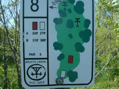 Bronte Creek Provincial Park, Main course, Hole 8 Short tee pad