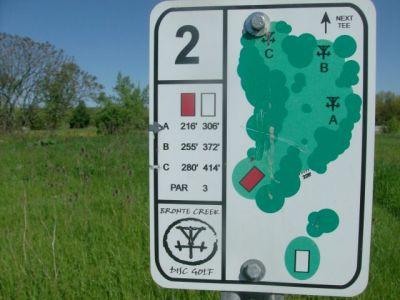 Bronte Creek Provincial Park, Main course, Hole 2 Long tee pad