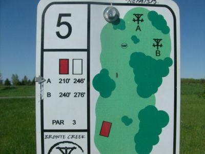 Bronte Creek Provincial Park, Main course, Hole 5 Short tee pad