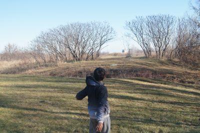 Bronte Creek Provincial Park, Main course, Hole 9 Short approach