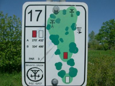 Bronte Creek Provincial Park, Main course, Hole 17 Short tee pad