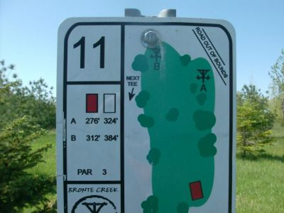 Bronte Creek Provincial Park, Main course, Hole 11 Short tee pad