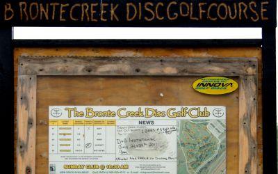Bronte Creek Provincial Park, Main course, Hole 1 Hole sign