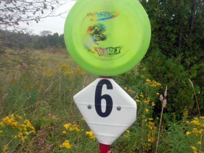Sunny Valley Campground, Main course, Hole 6 Hole sign
