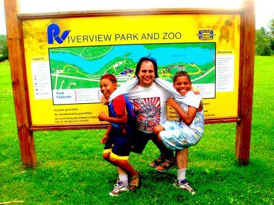 Riverview Park, Main course, Hole 9 Hole sign
