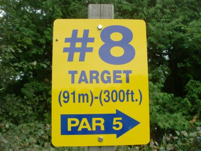 Riverview Park, Main course, Hole 8 Short tee pad