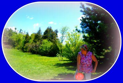 Riverview Park, Main course, Hole 7 Tee pad