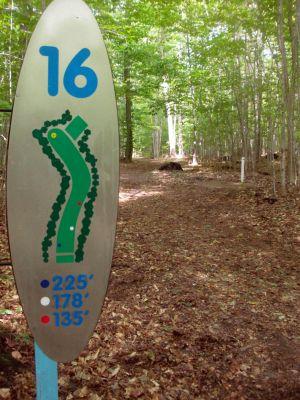 Dreamaker, Main course, Hole 16 Hole sign