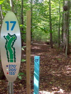 Dreamaker, Main course, Hole 17 Hole sign