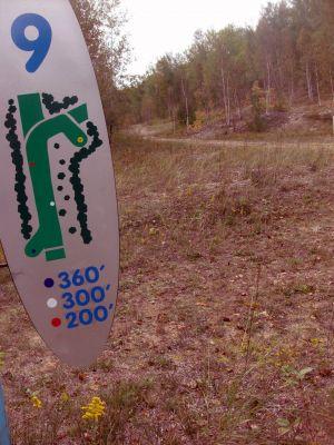 Dreamaker, Main course, Hole 9 Hole sign