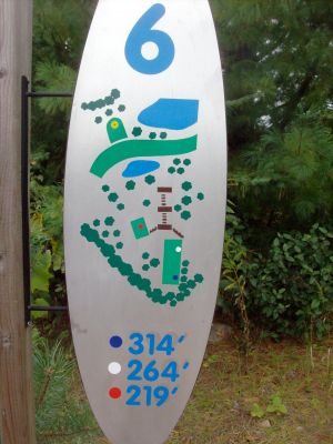Dreamaker, Main course, Hole 6 Hole sign