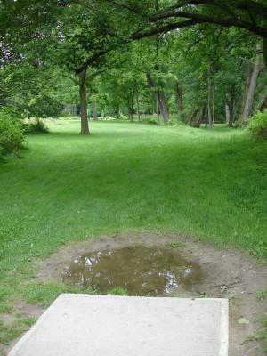 V.A. Barrie Park, Main course, Hole 4 Tee pad