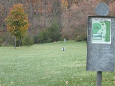 V.A. Barrie Park, Main course, Hole 12 Hole sign