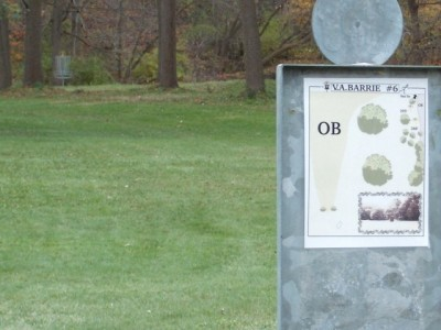 V.A. Barrie Park, Main course, Hole 6 Hole sign