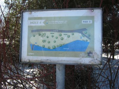 Toronto Island Park, Main course, Hole 4 Hole sign