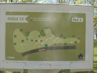 Toronto Island Park, Main course, Hole 15 Short tee pad