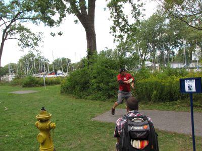 Toronto Island Park, Main course, Hole 9 Long tee pad