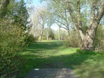 Toronto Island Park, Main course, Hole 4 Short tee pad