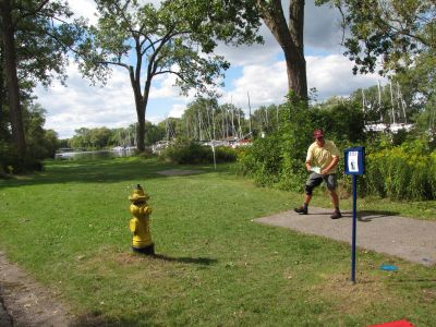Toronto Island Park, Main course, Hole 9 Long tee pad