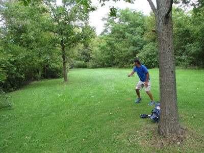 Toronto Island Park, Main course, Hole 8 Midrange approach