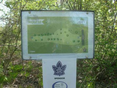 Toronto Island Park, Main course, Hole 10 Short tee pad