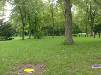 Pittock Conservation Park, Main course, Hole 3 Short tee pad