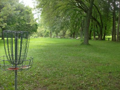 Pittock Conservation Park, Main course, Hole 9 Reverse (back up the fairway)