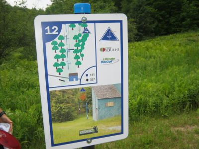 Camp Fortune, Main course, Hole 12 Hole sign
