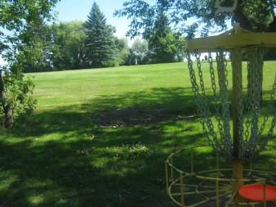 Diefenbaker Park, Main course, Hole 17 Reverse (back up the fairway)
