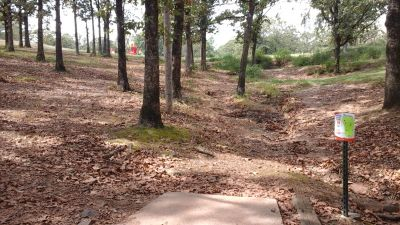 Burns Park, Red course, Hole 14 Tee pad