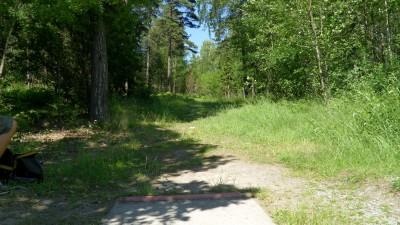 Lillsjöns Discgolfbana, Main course, Hole 9 Tee pad