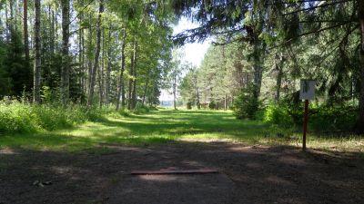 Lillsjöns Discgolfbana, Main course, Hole 2 Tee pad