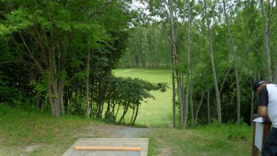 Järva Discgolf Park, Main course, Hole 21 Tee pad